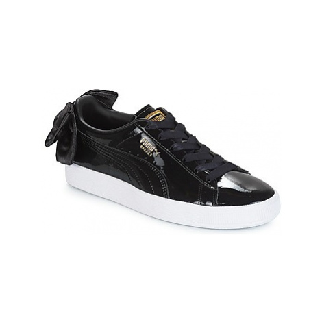 Puma WN SUEDE BOW PATENT.BLACK women's Shoes (Trainers) in Black