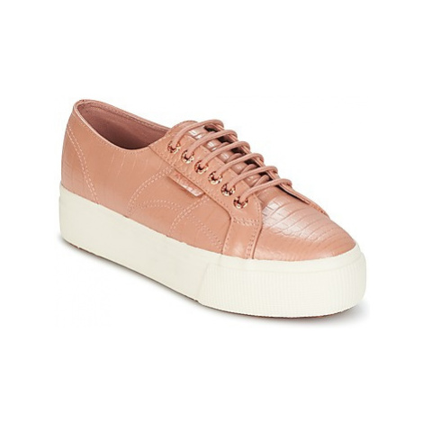 Superga 2790 F GL W EMB COCCO women's Shoes (Trainers) in Pink