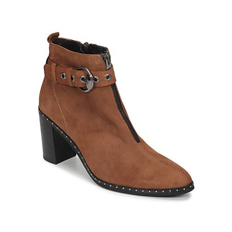 Philippe Morvan AXEL V4 CHEV VEL women's Low Ankle Boots in Brown