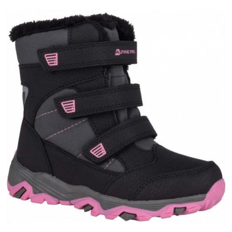 ALPINE PRO KURTO black - Kids' winter footwear