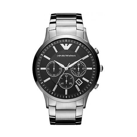 Emporio Armani AR2460 Men's Chronograph Date Bracelet Strap Watch, Silver/Black
