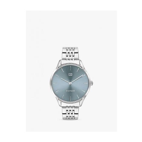 Tommy Hilfiger 1782210 Women's Crystal Bracelet Strap Watch, Silver/Blue