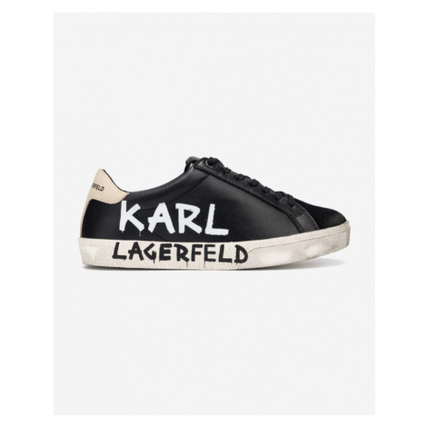 Karl Lagerfeld Skool Brush Logo Sneakers Black