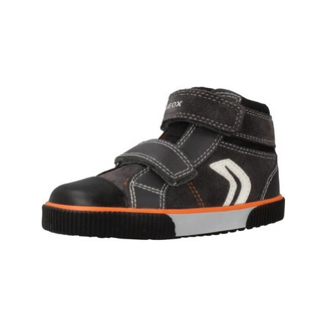 Geox B KILWI B.C boys's Children's Shoes (High-top Trainers) in Grey