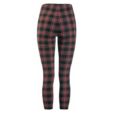Rock Rebel by EMP Red/Black Checked Jeggings with Side Stripes Leggings red black