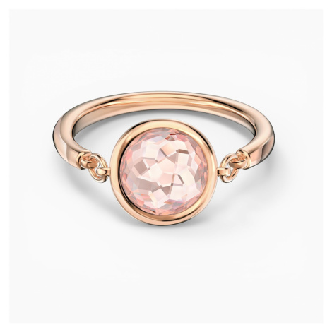 Tahlia Ring, Pink, Rose-gold tone plated Swarovski