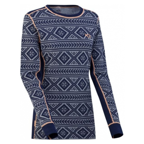 KARI TRAA FLOKE LS blue - Women's long-sleeved T-shirt