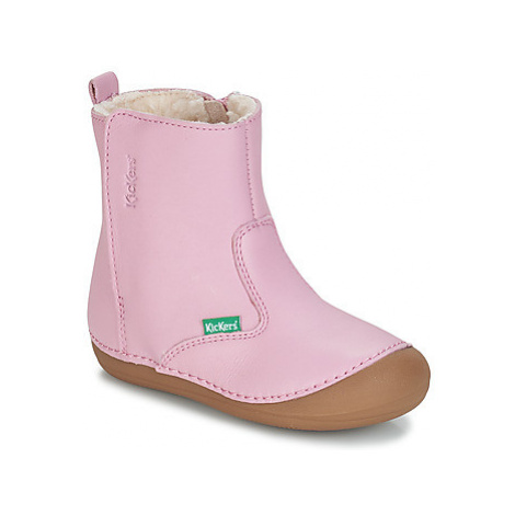 Kickers SOCOOL girls's Children's Mid Boots in Pink