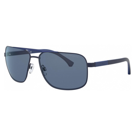 Emporio Armani Man EA2084 - Frame color: Brown, Lens color: Blue, Size 63-15/135