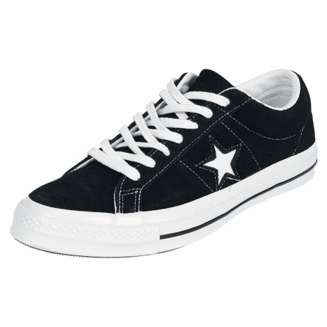 Converse - One Star Premium Suede - Sneakers - black-white