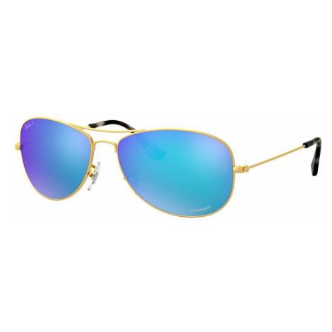 Ray Ban Man RB3562 Chromance - Frame color: Gold, Lens color: Blue Mirror, Size 59-14/140