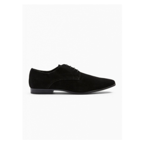 Mens Black Faux Suede Briar Derby Shoes, Black Topman