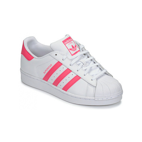 Adidas SUPERSTAR J girls's Children's Shoes (Trainers) in White