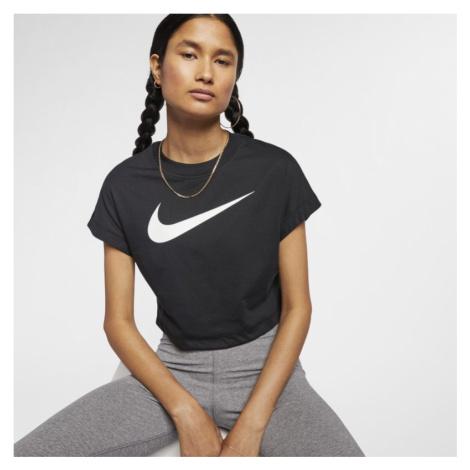 Nike Sportswear Women's Swoosh Short-Sleeve Crop Top - Black