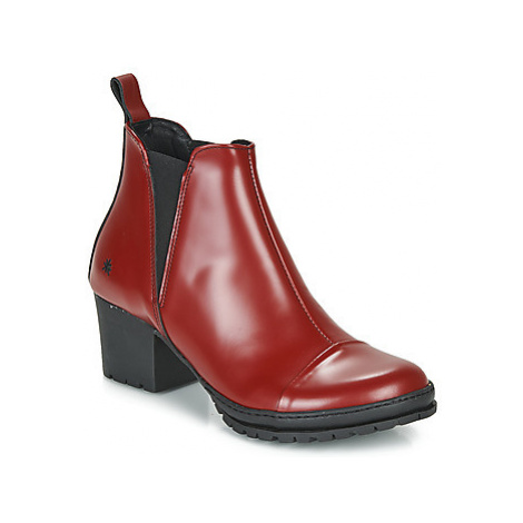 Art CAMDEN women's Low Ankle Boots in Red