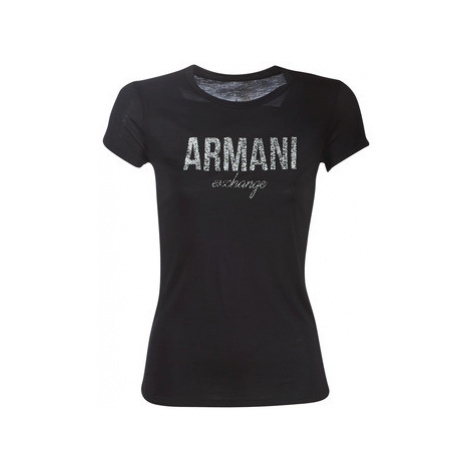 Armani Exchange 8NYT98-Y9C8Z-1200 women's T shirt in Black