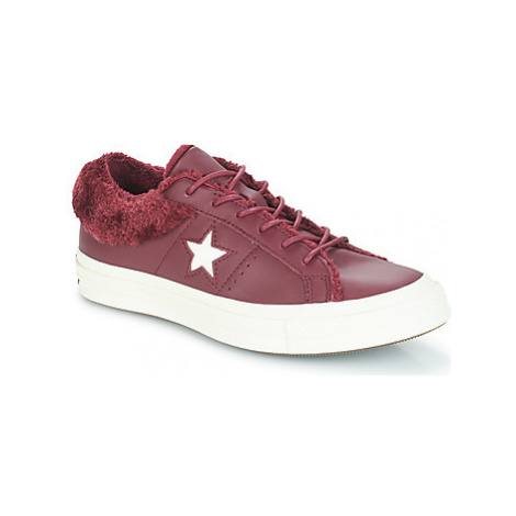 Converse ONE STAR - OX women's Shoes (Trainers) in Red