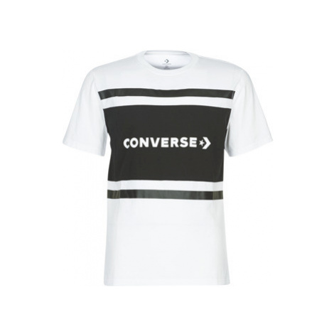 Converse COLORBLOCK SS men's T shirt in White