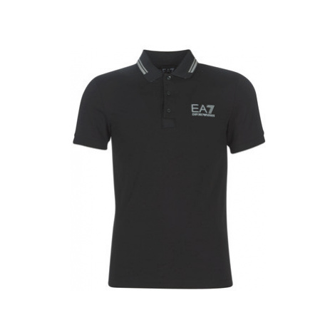 Emporio Armani EA7 TRAIN EVOLUTION men's Polo shirt in Black