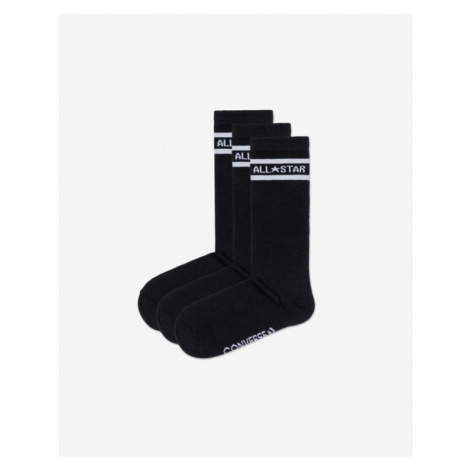 Converse Set of 3 pairs of socks Black