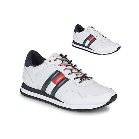 Tommy Jeans LEATHER LIFESTYLE SNEAKER men's Shoes (Trainers) in White Tommy Hilfiger