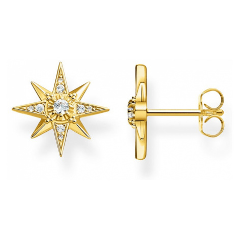 THOMAS SABO Sparkling Stars Gold Plated Silver Stud Earrings