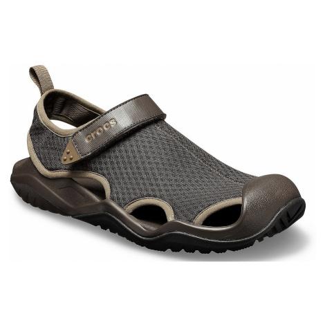 shoes Crocs Swiftwater Mesh Deck Sandal - Espresso - men´s