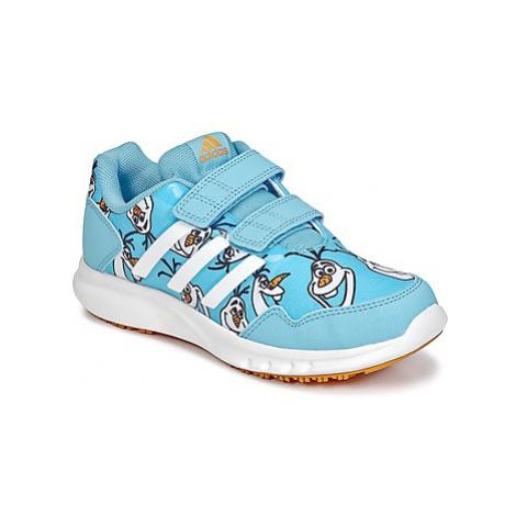 Adidas DISNEY REINE DES NEIGES CF C girls's Children's Shoes (Trainers) in Blue