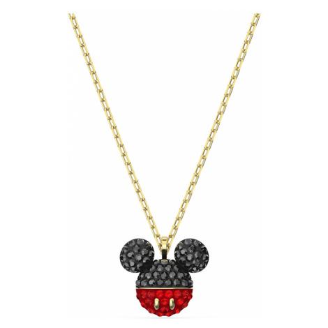 Mickey Pendant, Black, Gold-tone plated Swarovski