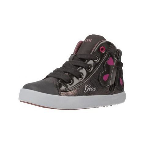 Geox B KILWI girls's Children's Shoes (High-top Trainers) in Grey