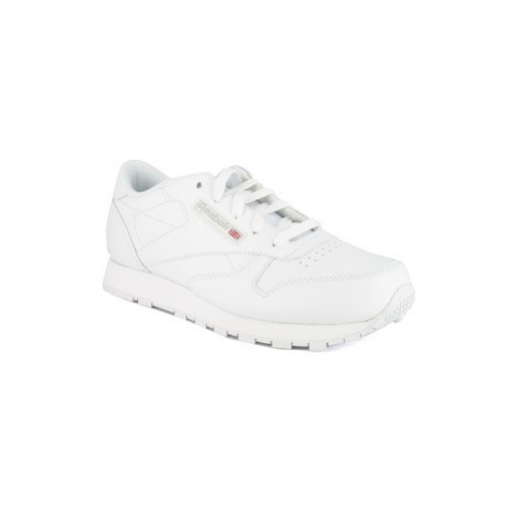 Reebok Classic CLASSIC LEATHER girls's Children's Shoes (Trainers) in White