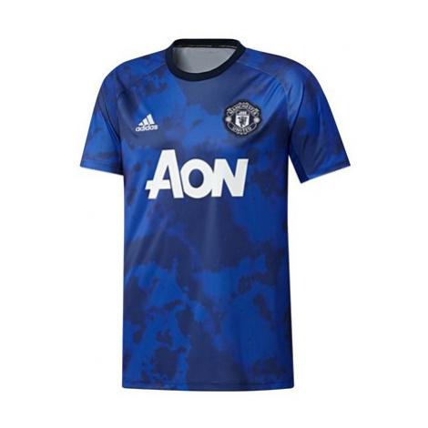 Manchester United Pre Match Shirt - Blue Adidas