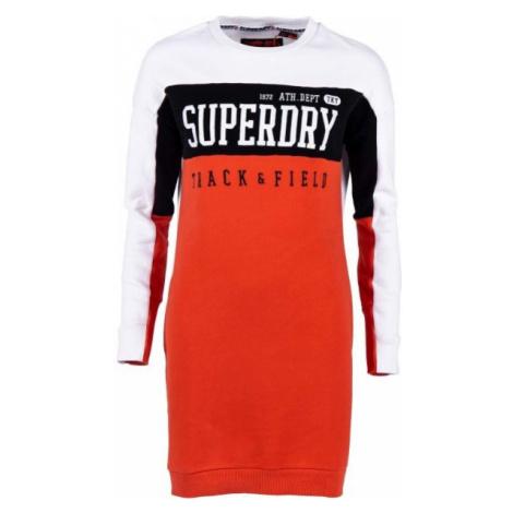Superdry PANEL SLEEVE SWEAT DRESS orange - Women's dress