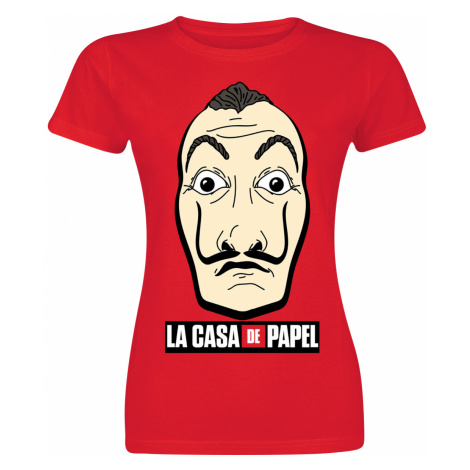 La Casa De Papel - Mask and Logo - Girls shirt - red