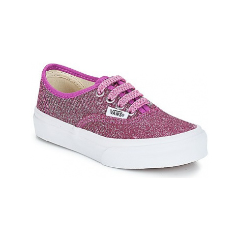 Vans UY AUTHENTIC girls's Children's Shoes (Trainers) in Pink