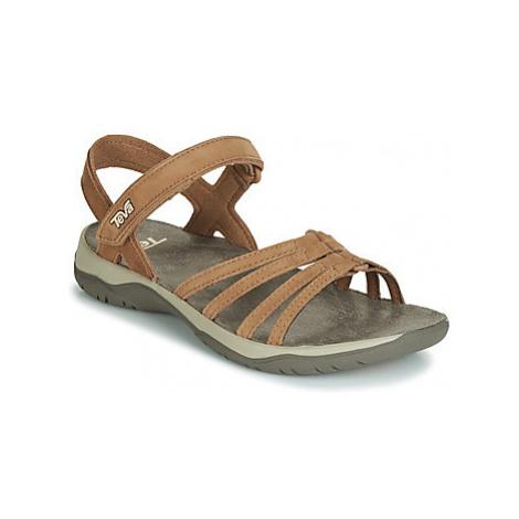 Teva ELZADA SANDAL LEA women's Sandals in Brown