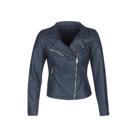 Only ONLFLORA BIKER women's Leather jacket in Blue