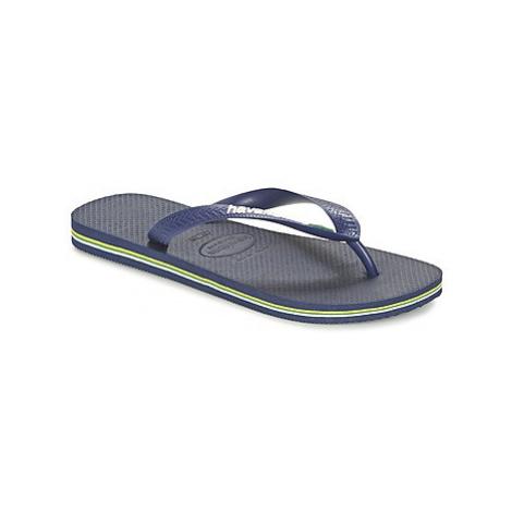 Havaianas BRASIL LOGO women's Flip flops / Sandals (Shoes) in Blue