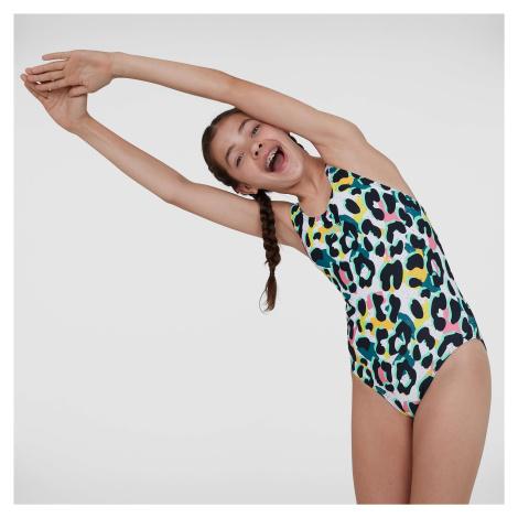 Kids Junior JungleSpeak Tieback Swimsuit Speedo