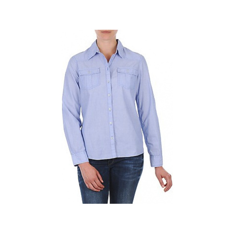 S.Oliver CHEMISTER MANCHES LO women's Shirt in Blue