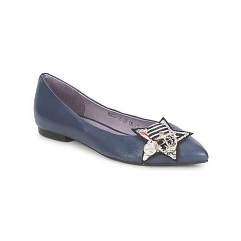 Couleur Pourpre TIANA women's Shoes (Pumps / Ballerinas) in Blue