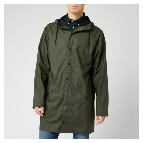 RAINS Men's Long Jacket - Green - XS-S