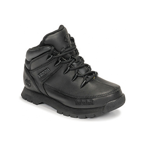 Timberland EURO SPRINT girls's Children's Mid Boots in Black