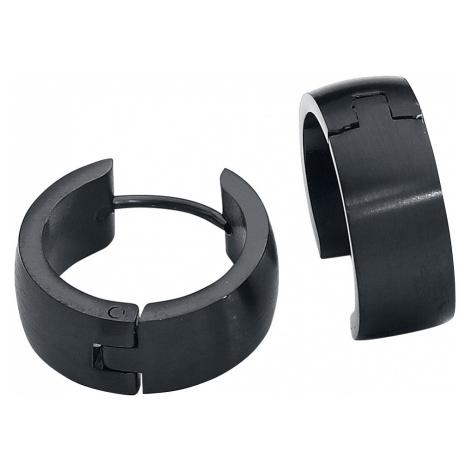 EtNox - Stainless Steel Hoops - Earring set - black