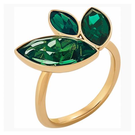Beautiful Earth by Susan Rockefeller Ring Set, Green, Gold-tone plated Swarovski
