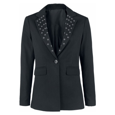Fashion Victim - Eyelet Blazer - Jacket - black