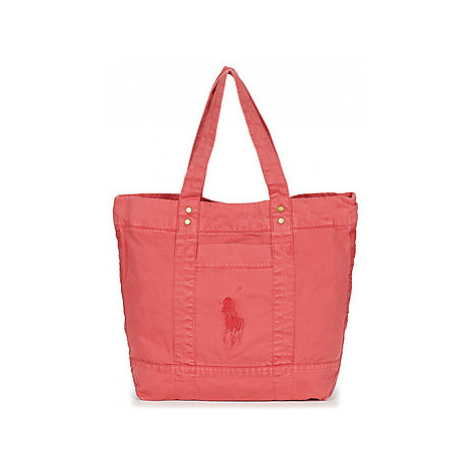 Polo Ralph Lauren PP TOTE SUNFADED CHINO women's Shopper bag in Red