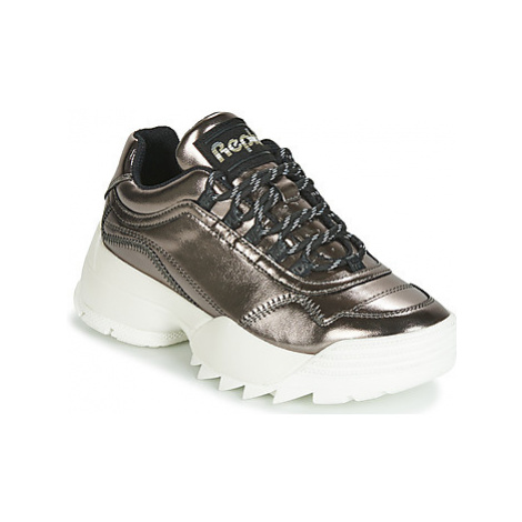 Replay CAILYN women's Shoes (High-top Trainers) in Silver
