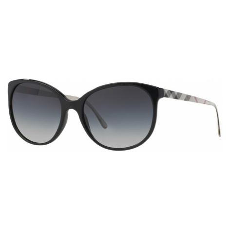 Burberry Woman BE4146 - Frame color: Black, Lens color: Blue, Size 55-17/135