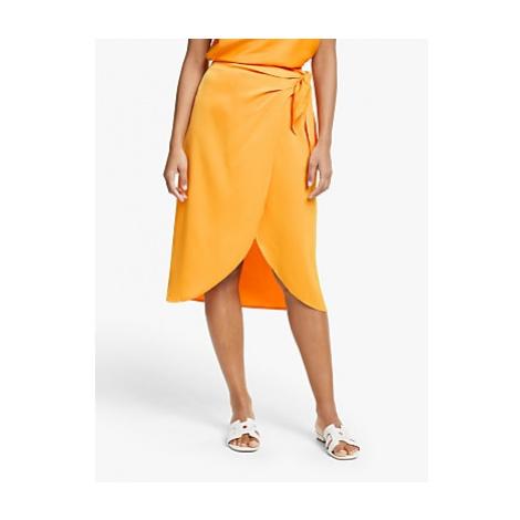 Y.A.S Yascadmi Satin Wrap Skirt, Cadmium Yellow